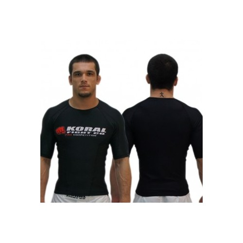 Koral Competition Rashie Short Sleeve - Black