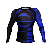 Fuji Freestyle IBJJF Long Sleeve Rash Guard Blue