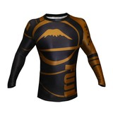 Fuji Freestyle IBJJF Long Sleeve Rash Guard Brown