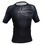 Fuji Inverted Short Sleeve Rash Guard Black