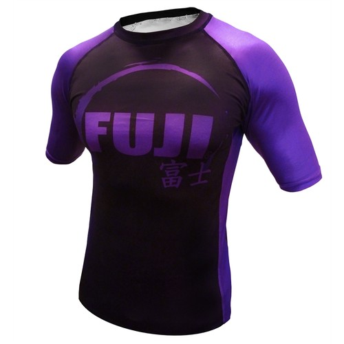 Fuji IBJJF Short Sleeve Ranked Rash Guard Purple
